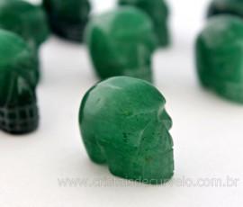 Cranio Cristal Quartzo Verde Esculpido em Pedra Natural Pequeno