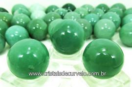 03 Mini Bola Aventurina Verde  Esfera Pedra Extra e Pequena  Cod 000