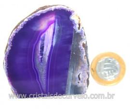 Geodo Ágata Chapa Lapidado Pedra Natural Garimpo Cod 121368