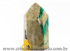 Ponta Jade Verde Pedra Grande 29Cm jadeita Natural 112403
