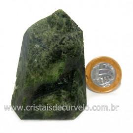 Ponta Epidoto Verde Na Matriz Ideal Para Coleção Cod 128500