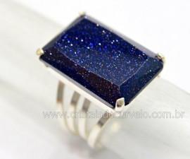 Anel Prata 950 Pedra Estrela Multifacetado Aro Ajustavel ao Dedo REFF 43.8