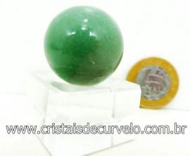 01 Mini Bola Aventurina Verde  Esfera Pedra Extra e Pequena  Cod 22.5