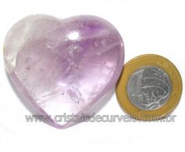 Coraçao Ametista Pedra Natural Ideal P/Presentear Cod 116125