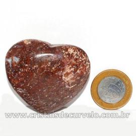 Coração Pedra Quartzo Jiboia Natural Lapidação manual Cod 126883
