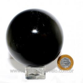 Esfera Obsidiana Negra Pedra Lava Vulcanica Natural 126125