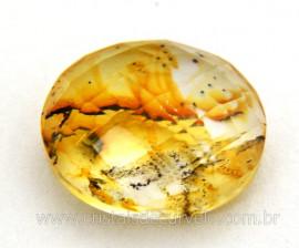 Dendrita Gema Cabochao Oval Facetado Montagem de Joias Pedra natural GC6192