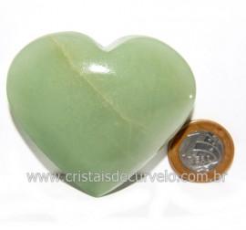 Coração Quartzo Verde Natural Comum Qualidade Cod 119833