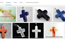 100 Pingente Misto Crucifixo Pedras Diversas Montagem Dourado