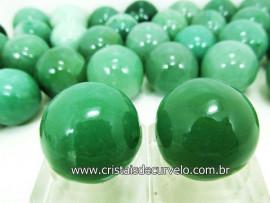 02 Mini Bola Aventurina Verde  Esfera Pedra Extra e Pequena REF 225431