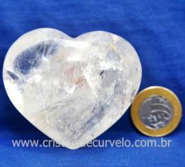 Coração Cristal Comum Qualidade Natural Garimpo Cod 127992