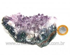 Drusa Ametista Média Pedra Natural Lilás Boa Cor Cod 120235
