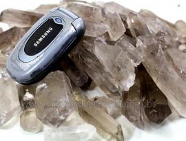 Pontas Cristal Fume Bruto Natural Pacote 1KG ( Pontas Comum) Quartzo Bruto
