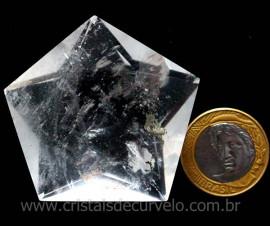Pentagrama Simbolo Wicca Pedra Quartzo Cristal Estrela 5 pontas cod 82.8