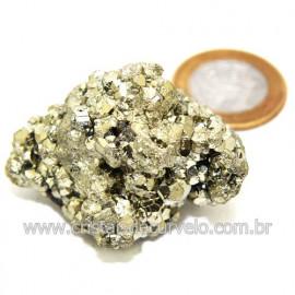 Pirita Peruana Pedra Extra Com Belos Cubo Mineral Cod 119272