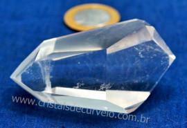 Bi Terminado Cristal Quartzo Natural Pedra Extra Lapidado Double Point Cod 69.3