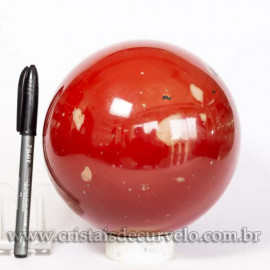 Esfera Jaspe Vermelho Pedra Natural Esfera Grande 3.9kg Cod 125459