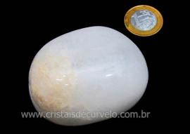 Massageador de Seixo Pedra Quartzo Leitoso Natural Cod ML7496