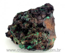 Malaquita Especial Na Matriz Mineral Natural Para Colecionador Cod 932.4