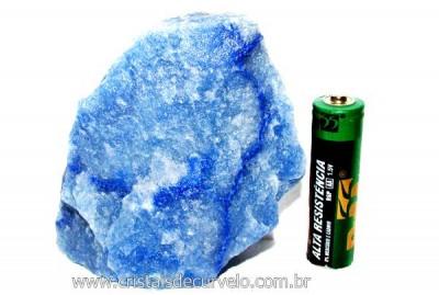 Quartzo Azul ou Aventurina Azul Pedra Bruto Natural Cod QA4269