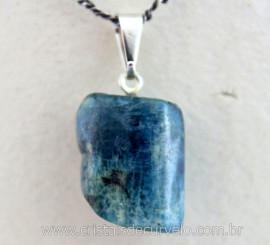 Pingente CANUDO AGUAS MARINHAS  Pedrinha Rolado Mineral Quartzo Natural