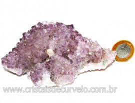 Drusa Ametista Média Pedra Natural Lilás Boa Cor Cod 114006