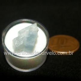 Calcita Azul do Mexico no Estojo Pedra Natural Cod 126638