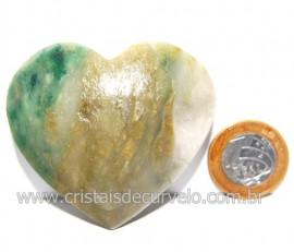 Coraçao Jade Verde Natural Origem Montes Claros MG Cod 117876