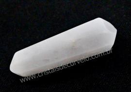Bi Terminado CRISTAL QUARTZO LEITOSO Pedra Extra Lapidado Tamanho Mini 2.5  Cm
