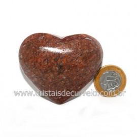 Coração Pedra Quartzo Jiboia Natural Lapidação manual Cod 118992