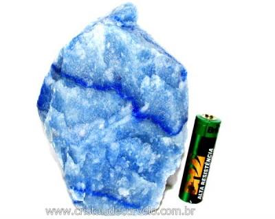 Quartzo Azul ou Aventurina Azul Pedra Bruto Natural Cod QA2824