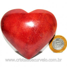 Coração Quartzo Vermelho Pedra Natural de Garimpo Cod 116011