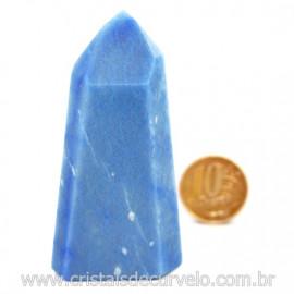 Ponta Quartzo Azul Pedra Natural Gerador Sextavado Cod 127779