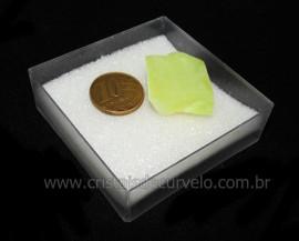 Calcedonia Verde Natural No Estojo Ideal P/Coleção Cod 104733