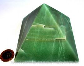 Pirâmide GRANDE Pedra Quartzo Verde Natural Queops cod PG1093