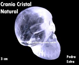 Cranio Cristal de Quartzo Esculpido em Pedra Extra Pequeno