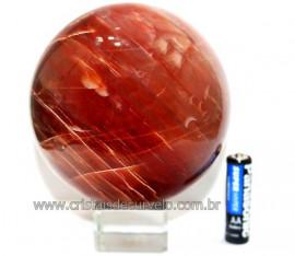 Esfera Aragonita Vermelha Natural Tamanho Médio Cod 110271