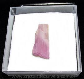 Kunzita Rosa Pedra Natural Fonte de Litio No Estojo Cod 115097