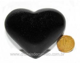 Coração Quartzo Preto Quartzito Negro Pedra Natural Cod CP7214