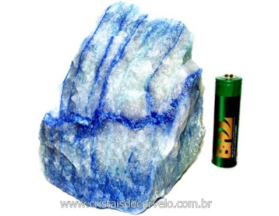 Quartzo Azul ou Aventurina Azul Pedra Bruto Natural Cod QA8540