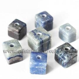 5 Pingente Cubo Quartzo Azul Natural Difusor Aromaterapia ATACADO