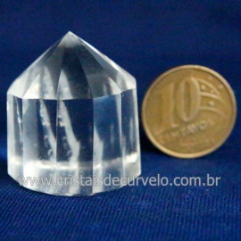 Voguel Cristal 01 Ponta Pedra Natural 12 Facetas Cod 123401