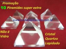 10 Piramides Cristal Extra Transparencia Medida Baseada Queops Tamanho 15 A 20 MM