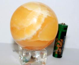 Esfera Calcita Mexicana Pedra Natural de Garimpo Lapidada Cod EM1837