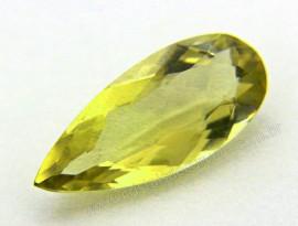 Gema Green Gold Gota Pedra Natural Montagem Joias Cod GG3735