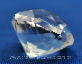 Diamante Natural Cristal Super Extra Quartzo De Garimpo Lapidação Manual Cod 71.9