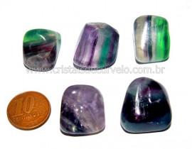 04 Fluorita Multicolor Rolado Natural de garimpo Reff FR9093