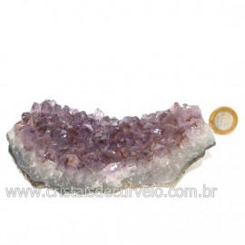 Drusa Ametista Média Pedra Natural Lilás Boa Cor Cod 126594