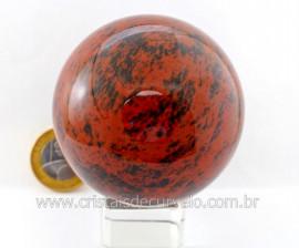 Esfera Pedra Obsidiana Mahogany ou Obsidiana Mogno Mineral Lava Vulcanica Cod 377.4