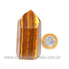 Ponta Olho de Tigre Pedra Extra Natural de Garimpo Cod 119114